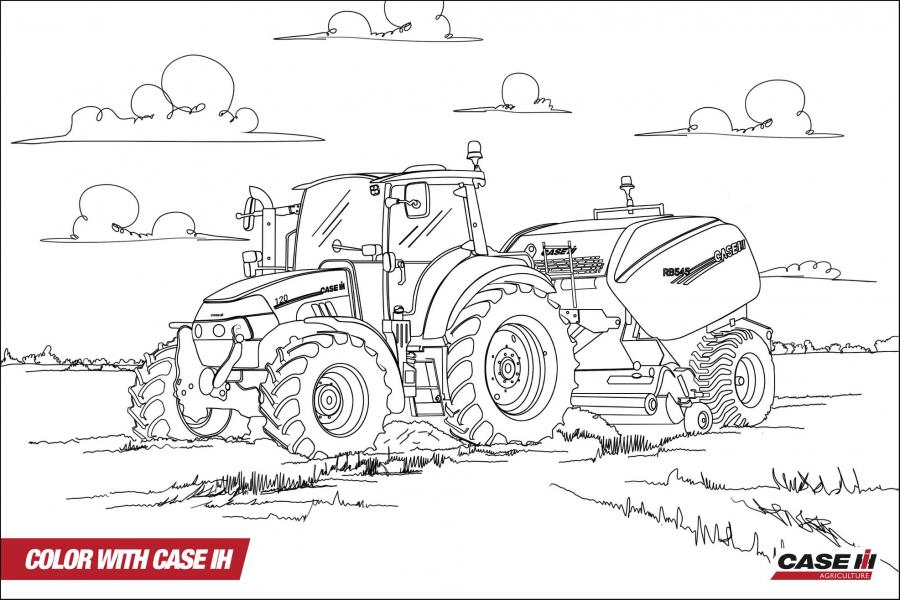 Big Boss Tractor Coloring Pages to Print | Free | Tractors |Farm | 600x900