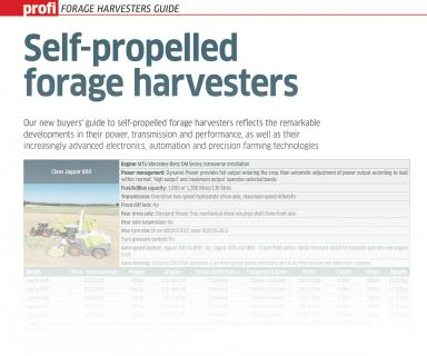 FORAGE HARVESTERS GUIDE