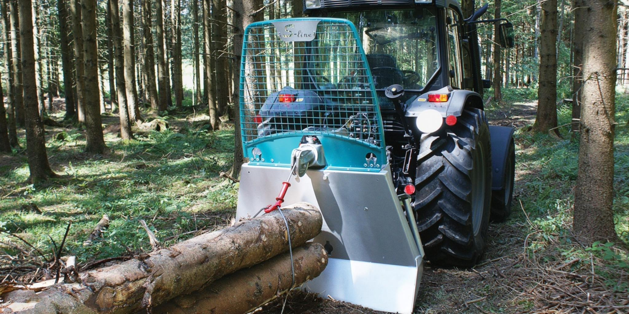 Tractor-mounted logging winches from Spaldings | profi